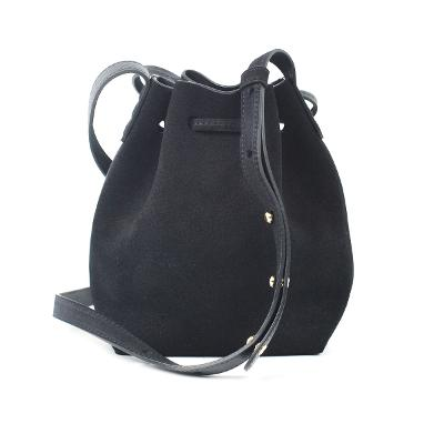mini mini suede bucket bag