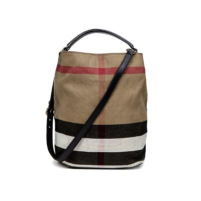 M canvas check leather ashby black 1