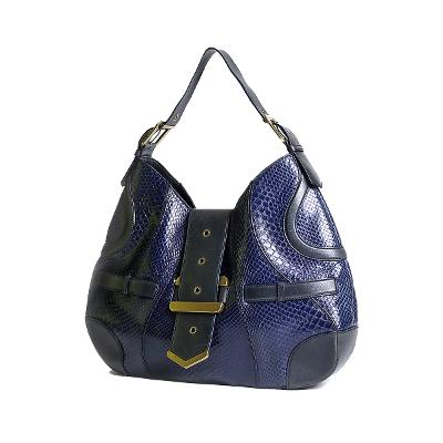 exotic leather hobo bag blue