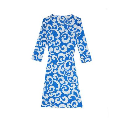 pattern wrap dress