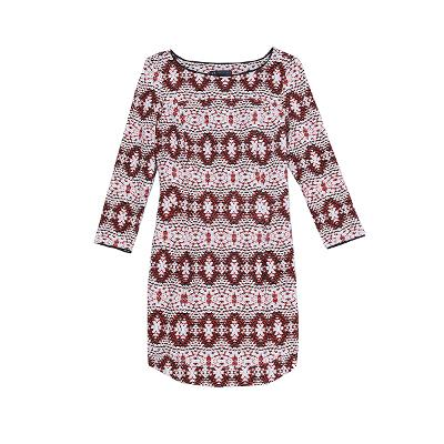 pattern dress red
