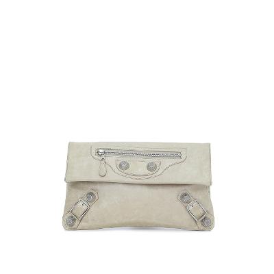 giant clutch beige
