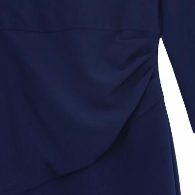V-neck dress blue