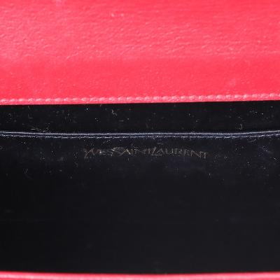 monogram clutch red