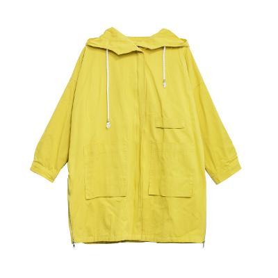 hoodie zip-up jacket yellow