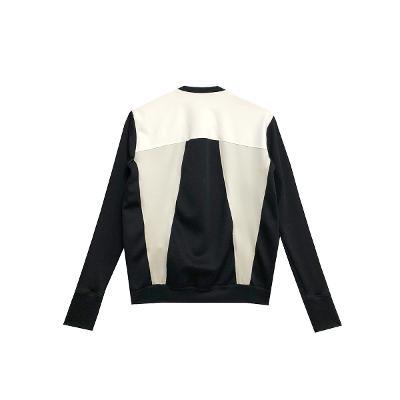 black & white zip-up blouson
