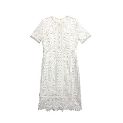 floral lace dress white