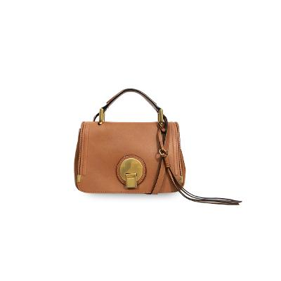 gold buckle tote bag