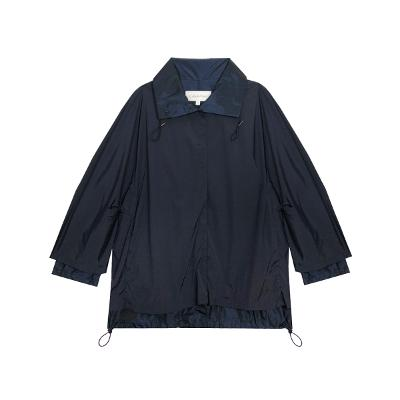 sring shirring jumper navy