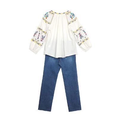 Nain - ethnic blouse_Debb - straight jean