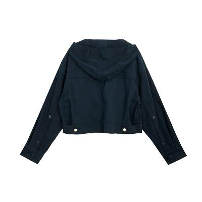 short button jumper navy