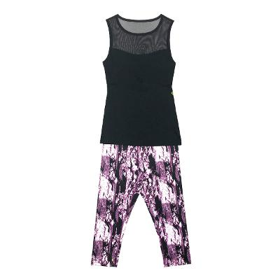 Athluna - cap sleeveless top_print leggings