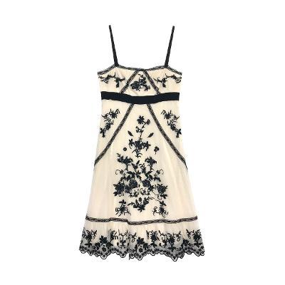 lace slip dress ivory