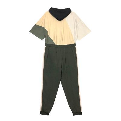 [free]El estilo de Claire – boxy graphic hood t shirt_banding training pants