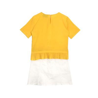 El estilo de Claire – pleast button top_button up a line skirt