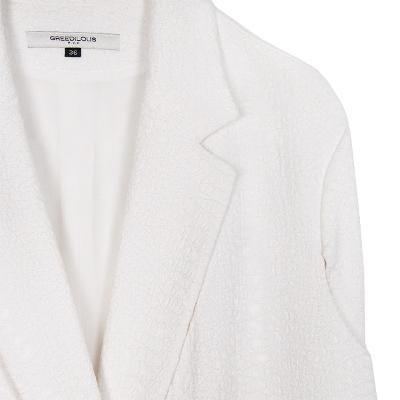 double button vest jacket white