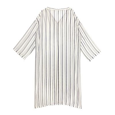 stripe chiffon robe