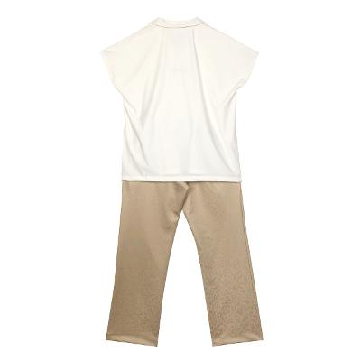 [free] Right Route - white sports collar sleeveless & leopard banding pants