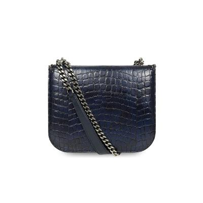 falabella box mini bag navy