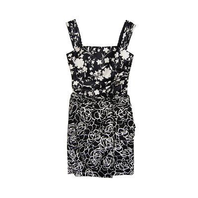 Luisa Spagnoli - flower silk top & flower skirt