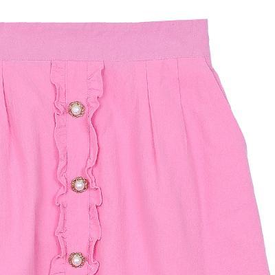 frill button-up skirt