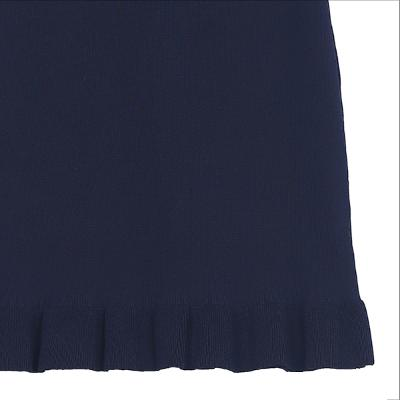 basic knit skirt navy 1