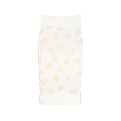 feminine slim skirt ivory