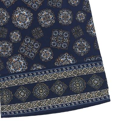 exotic pattern wide bending pants