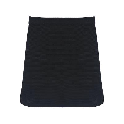 side slit two tone mini skirt