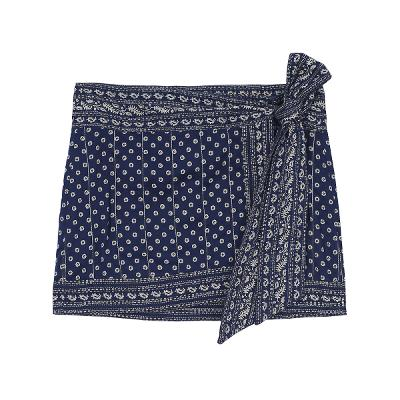 exotic pattern mini skirt