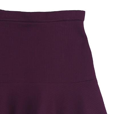 simple flare skirt burgundy