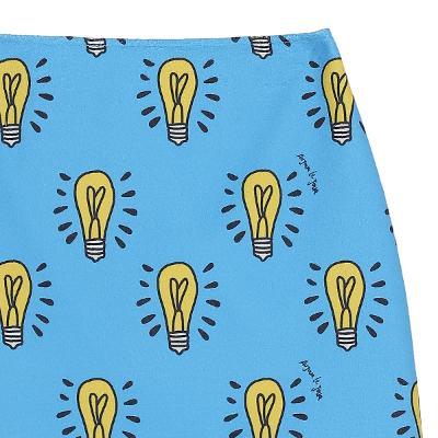 unique pattern mini skirt skyblue