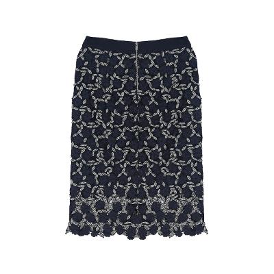 two tone floral lace skirt multi