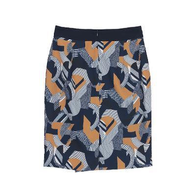 unique pattern wrap skirt multi