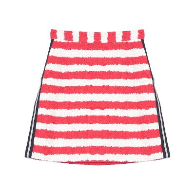side point stripe mini skirt