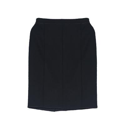 panel midi skirt black