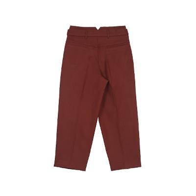 pin-tuck detail pants brown 4