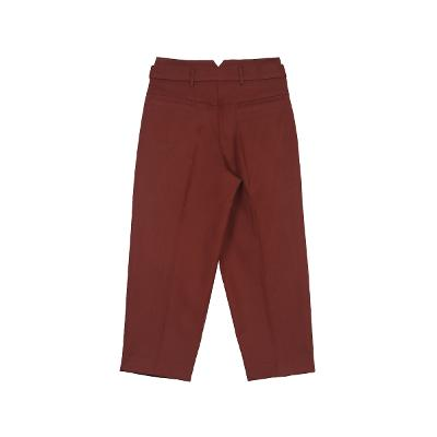 pin-tuck detail pants brown 3
