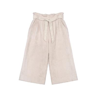 belted ribbon point pants pink