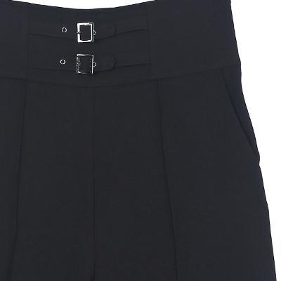 belted high waist wide pants black2