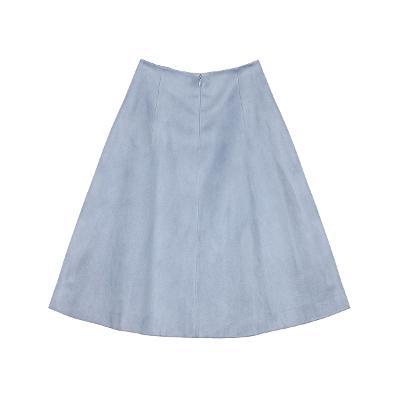 flare line midi skirt blue
