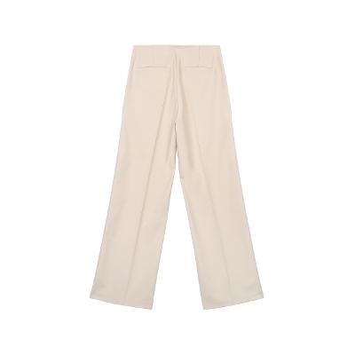side button detail pants ivory