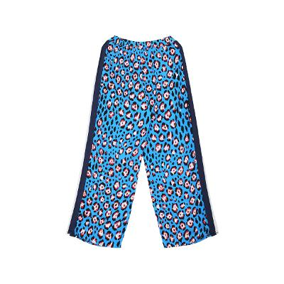 side point leopard pattern pants