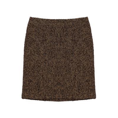 herringbone pattern mini skirt