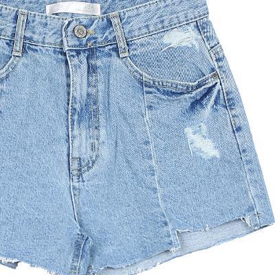 rough cutting damaged denim shorts 1