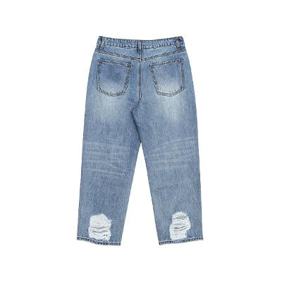 damaged point denim pants 2
