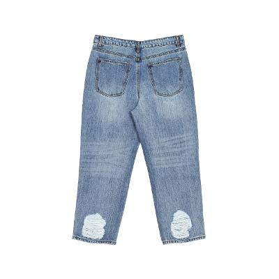 damaged point denim pants 3