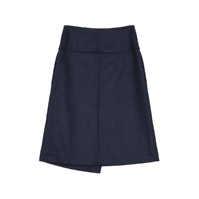 modern mood wrap skirt navy