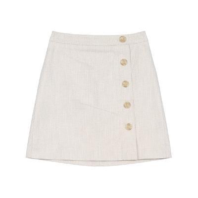 button point mini skirt