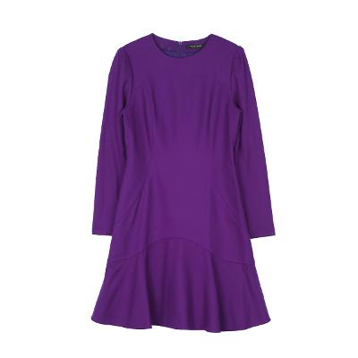 bottom frill dress purple